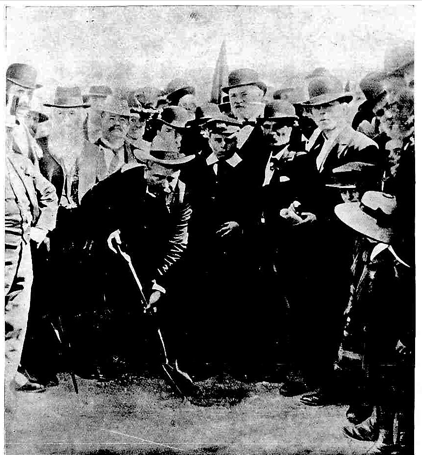 8a529ba2d84 THE HON. E. W. O SULLIVAN TURNING THE FIRST SOD OF THE FIELD OF MARS  TRAMWAY.
