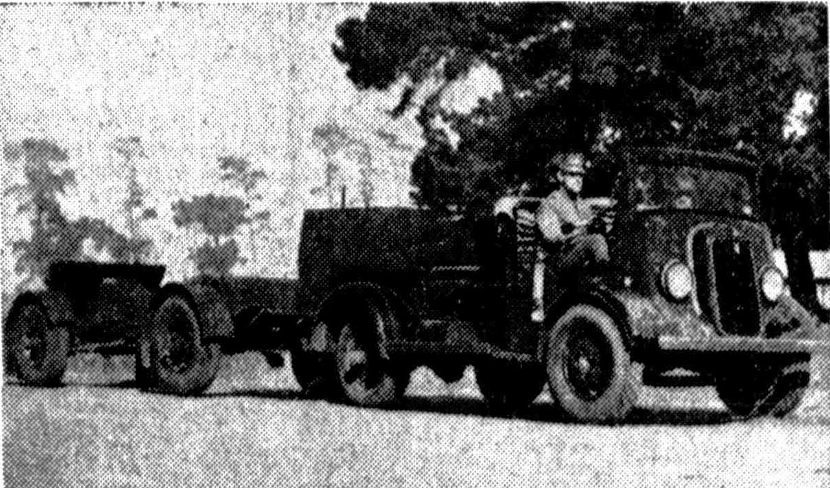 Pittwater Online News 1948 Ford Truck Cast S The Forward Control V 8 With Gun Attached