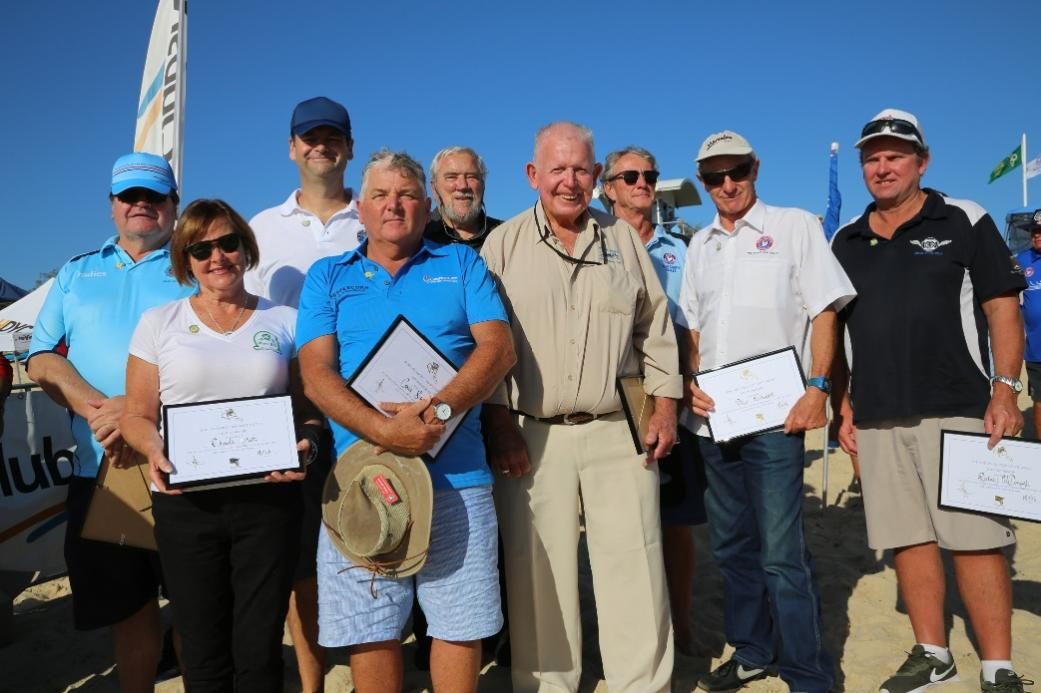 0bab45aaebd2 Photograph courtesy SLS NSW - The new Life Members were honoured guests at  the 2017 NSW Surf Life Saving Championships at Blacksmiths Beach.